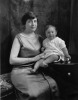 Rosa Pokorny Adler with grandson, David Pokorny Levy, 1924